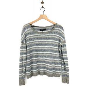 Rag & Bone Striped Linen Pullover Sweater Medium